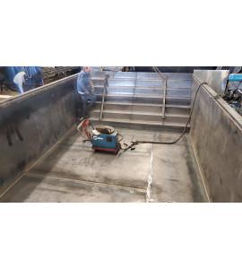 Piscine Container en acier 6M25x2M55x1M20 / 1M50