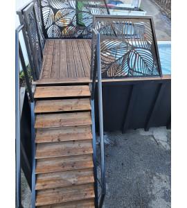 Installation piscine container acier 6M25x2M55x1M20 / 1M50