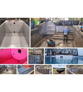 Découverte piscine container acier 6M25x2M55x1M20 / 1M50