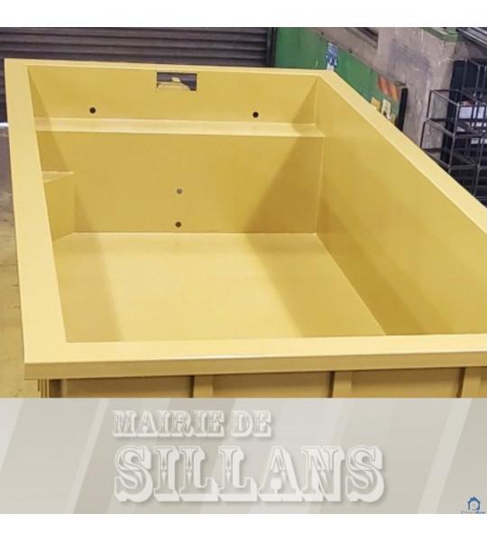 (38590 - Sillans) Piscine Container en acier 6Mx3Mx1M40