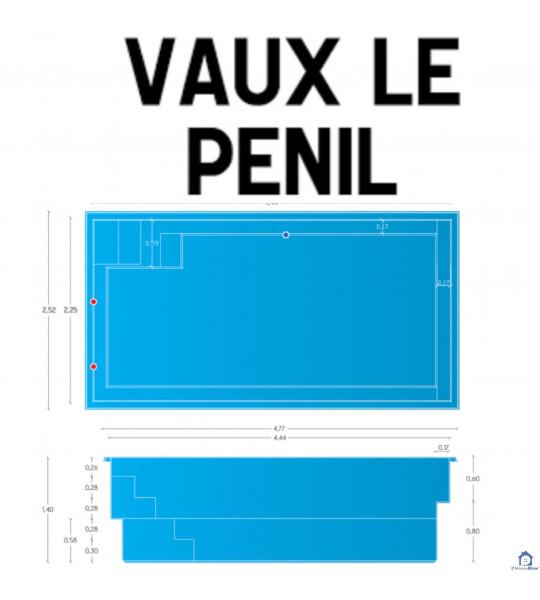 Vaux-le-Pénil (77000) Piscine coque 4M44x2M25x1M45