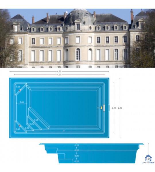 Piscine coque de 10M2 _ 4M20x2M40x1M45 _ Vaux-le-Pénil (77000)