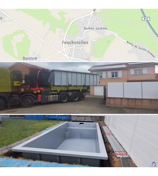 Piscine Container acier 4M30x2M30x1M56 (78810) Feucherolles