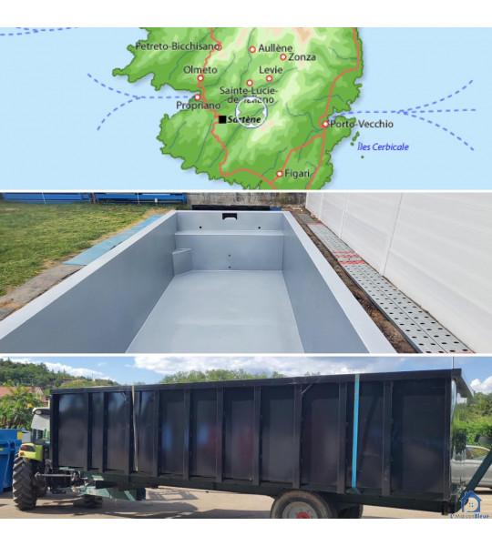 (20135) Conca Piscine Container acier 8M50x3M50x1M56