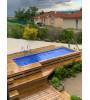 (01120) Piscine bois & coffre intégrés 6M20x2M50x1M33 Montluel
