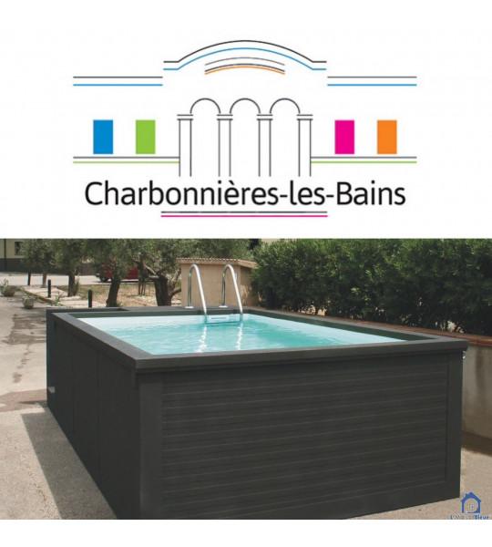 (69260) Charbonnières-les-bains Piscine container 5M25x2M55x1M26