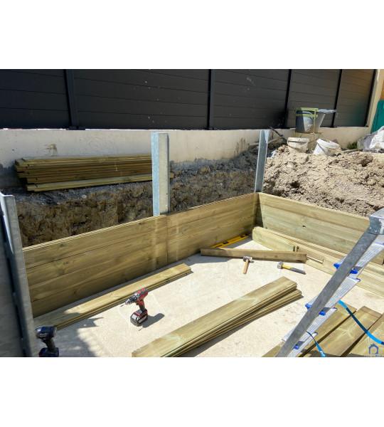 Piscine bois semi enterrée 2M90x2M90x1M33 (74100) Annemasse
