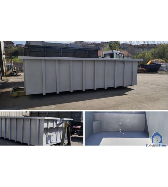 Yvoire (74140) Piscine Container en acier 7M50x3M80x1M56