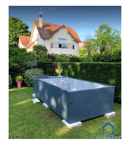(95320) St Leu la Forêt Container piscine en livraison 5M25x2M55x1M26