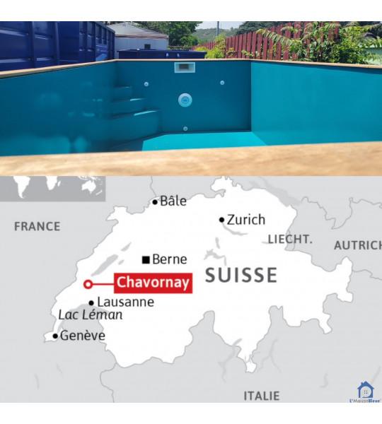Piscine Container en acier 6M25x2M55x1M50 Chavornay (Vaud)