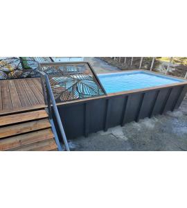 Piscine Container acier 6M25x2M55x1M20 / 1M50