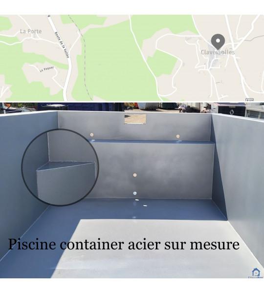 Piscine Container en acier 6Mx2M50x1M56 (69870) Claveisolles