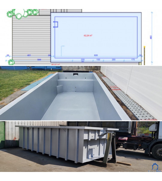L-3928 Mondercange Piscine Container acier 8M80x3M90x1M50