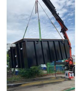Piscine Container en acier 4M30x2M30x1M46 (35320) Crevin