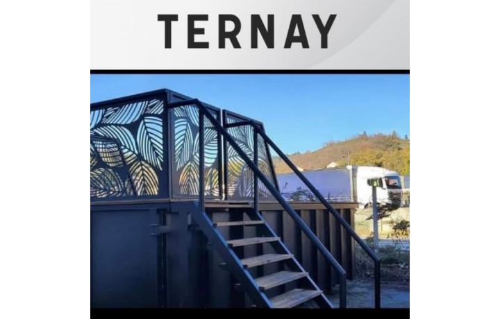 ✅ Ternay (69360) Découverte Piscine Container acier 4M30x2M30x1M40