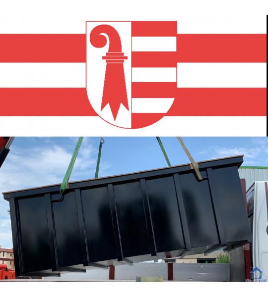 Projet Piscine Container acier 6Mx3Mx1M40 2926 Boncourt dans le canton du Jura