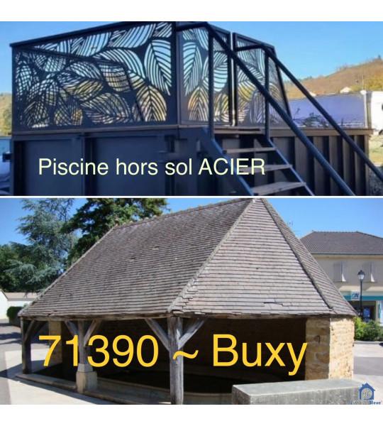 Installation Piscine Container acier 4M30x2M30x1M40 (71390) Buxy