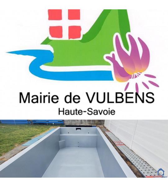 Piscine Container acier enterrée 9M60x3M60x1M40 (74520) Vulbens