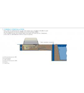 1522 - LUCENS (CH) Piscine coque Suisse 8Mx4Mx1M50 rectangulaire