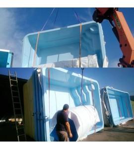 piscine 6m90x3m20x1m35 toutes nos piscines profitent de la protection renforc e par enrobage. Black Bedroom Furniture Sets. Home Design Ideas