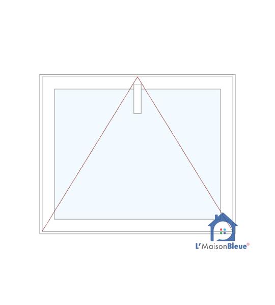 1700 x 1500 fenêtre à soufflet