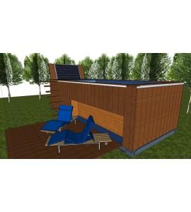 Le conteneur 45 pieds existe en version palet wide for Construction piscine 40