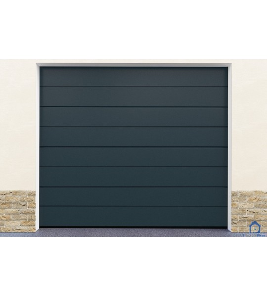 Porte de garage ton gris