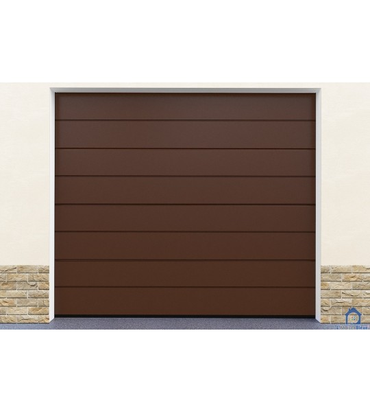 Porte garage ton marron