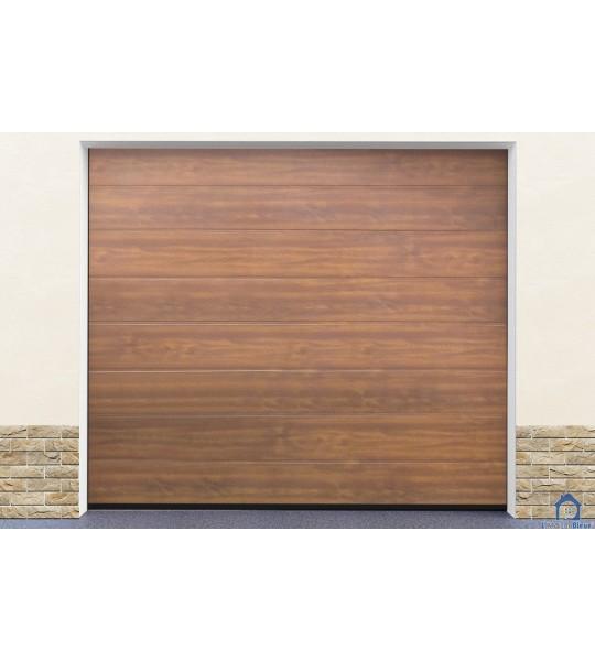 Porte garage ton bois