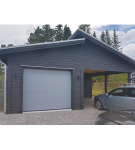 Prix porte garage sectionnelle coloris marron for Porte de garage sectionnelle prix discount