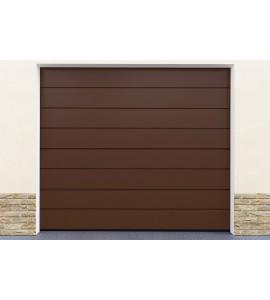 Porte de garage marron