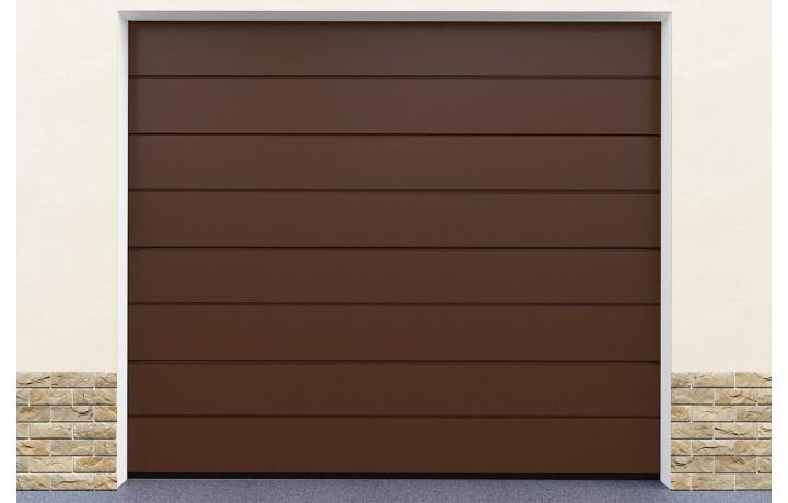 Porte de garage ton marron
