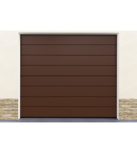 Porte garage marron pas cher
