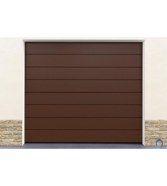 Porte de garage marron pas cher