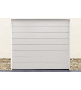 Kit porte de garage blanc pas cher
