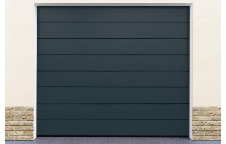 Porte De Garage Coloris Gris économique En énergie étude Réalisée - Porte de garage sectionnelle avec porte fenetre pvc prix