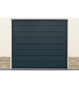 Installation porte garage gris
