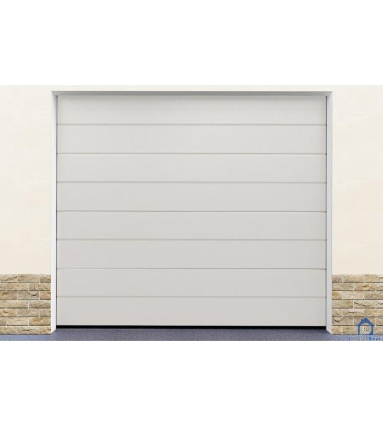 Installation porte garage blanc
