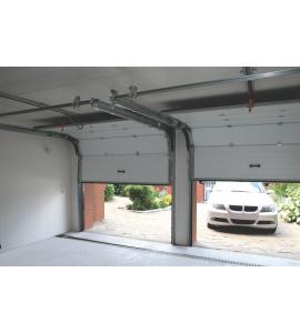 installation porte de garage en kit coloris gris. Black Bedroom Furniture Sets. Home Design Ideas