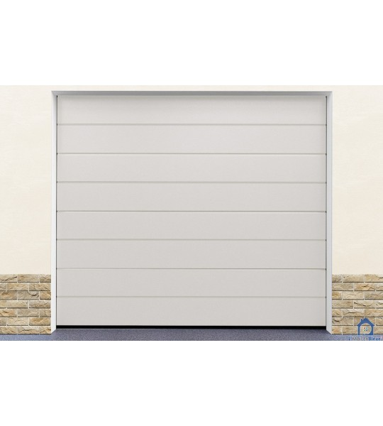 Montage porte garage blanc