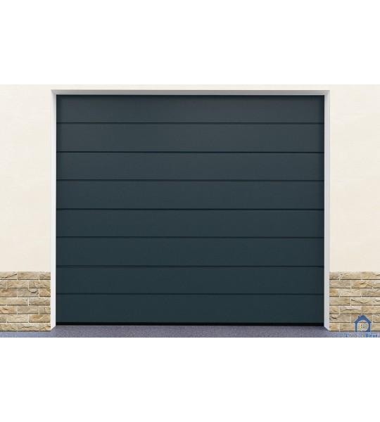 Porte garage gris pas cher motorisation