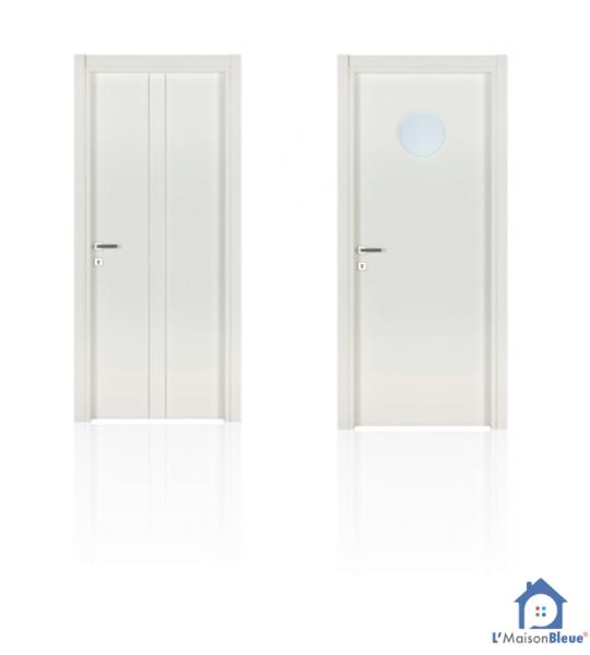 habillage porte intérieure par l'maison bleue