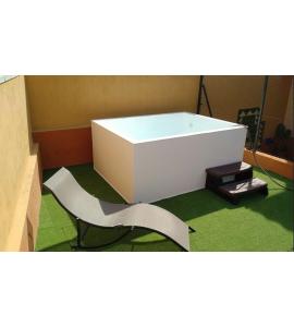 prix mini piscine 1m70x2m22x0m60 un mini bassin esth tique int gr au jardin. Black Bedroom Furniture Sets. Home Design Ideas
