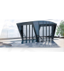 abri piscine inox 10mx6m00 la porte partie avant se dresse motoris e. Black Bedroom Furniture Sets. Home Design Ideas