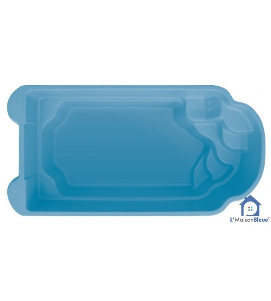 Piscine coque 5M50x3Mx1M40