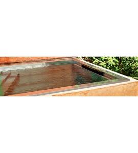 Piscine terrasse en Inox