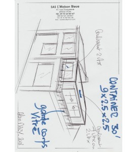 Habitat container en terrasse
