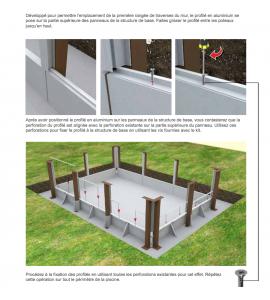 Kit piscine en béton 7M50x3M24x1M40 (Structure acier)