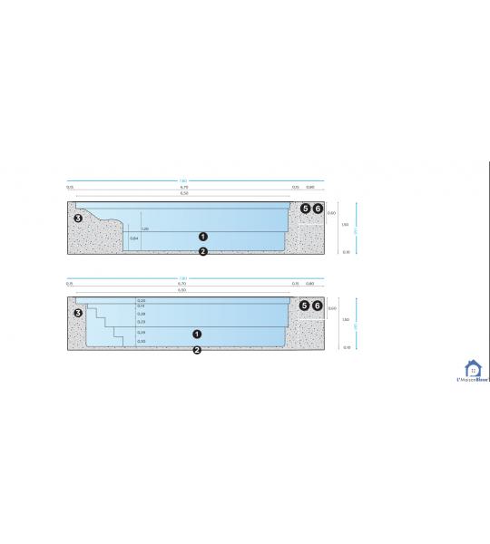 Kingersheim Bassin 6M70x3M20x1M50 fond plat