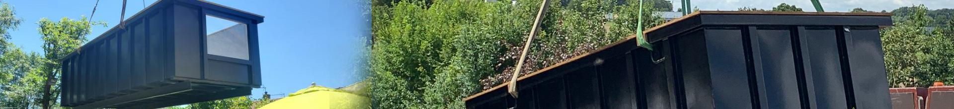Projet container piscine sur mesure Belgique (Courtrai)